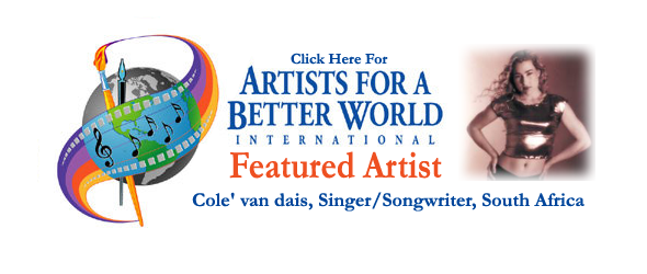 Featured Singer/Songwriter: Cole' van dais, South Africa