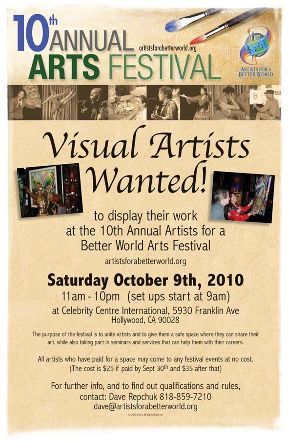 AFABW Visual Artists Wanted (in Hollywood): 10/9/10